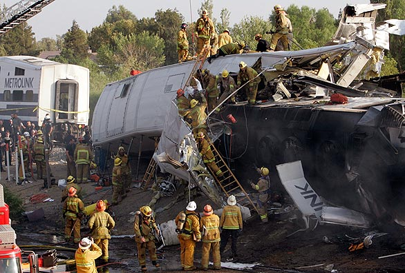 Los Angeles Metrolink train accident