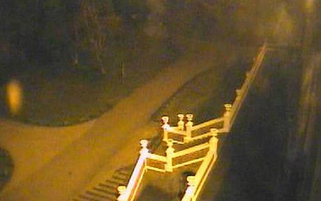 CCTV footage which appears to have captured an apparition making its way through the grounds of Croxteth Park