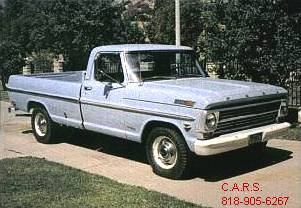 68 Ford F250 pickup Blue fnt