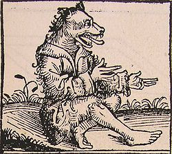 Schedelsche Weltchronik -Man with a dog head.
