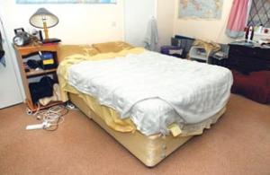 The bed where Kevin Cartwright has spent many a sleepless night. WorcesterNews