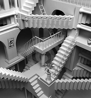 Travelling Between Dimensions Woman Claims To Be From A Parallel Universe Escher-stairs