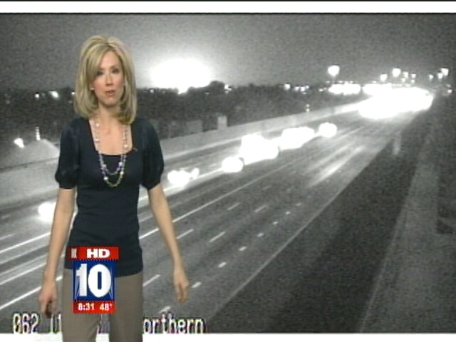 Mysterious Light Flashes During Live Traffic News