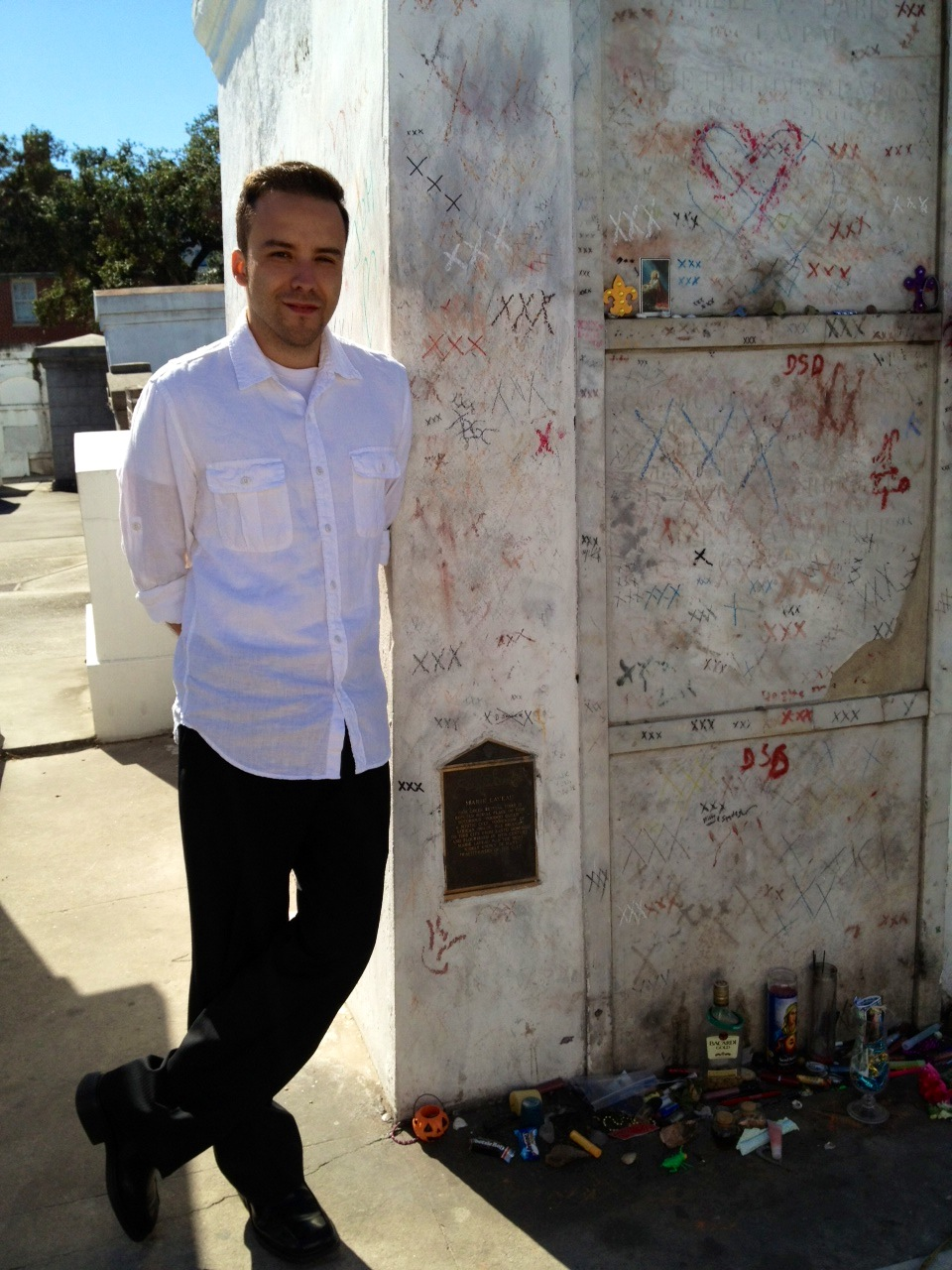 Standing next to Marie Laveau