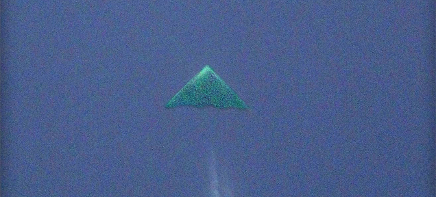 Triangle Aircraft Photographed