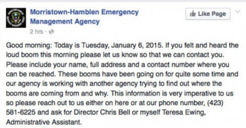 Morristown Emergency Management Agency on Facebook