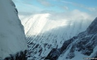 The view out of Comb Gully where Christopher Sleight was climbing when he and others heard screaming