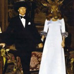 Marie Rotchild. In stag mask greeted her guests.