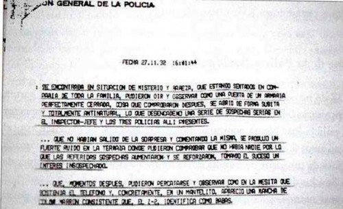 Official Vallecas Police report