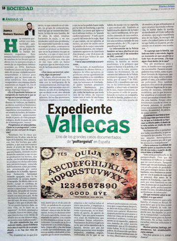 Spanish newspaper's article on Estefania's case. diariodeavisos.com
